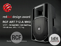 Hire RCF Art712 A MKII active PA-Speaker in Mallorca - Majorca.